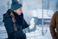 zima, kobieta, śnieg, Szkarska Poręba
