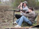 myśliwy podczas polowania